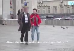 Rusyada Türk Bayrağı ile dolaşan Rus