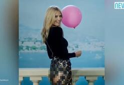 Heidi Klumun eteği patladı