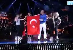 Eurovisionda Türk bayrağı