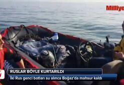İstanbul Boğazı'nda mahsur kalan Ruslar böyle kurtarıldı