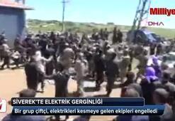 Siverekte elektrik kesintisi gerginliğe yol açtı