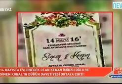 İşte Kenan İmirzalıoğlu - Sinem Kobalın düğün davetiyesi