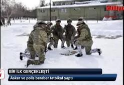 Asker ve polis birlikte tatbikatta...