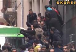 Sefa Kalya'nın cenazesinin çıktığı sırada olaylar çıktı
