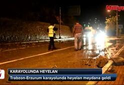 Gümüşhane-Erzurum karayolunda heyelan