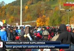 Sığınmacılar sınır kapısında