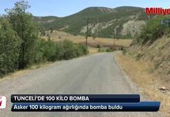 Tuncelide 100 kilo bomba bulundu