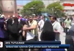 Ankarada Çinli sanılan kadın tartaklandı