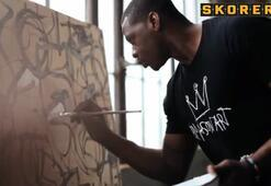 Eski NBA yıldızı ressam oldu