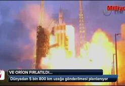 Ve Orion uzay kapsülü fırlatıldı