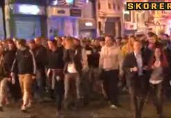 Taksimde Galatasaray-Dortmund kavgası