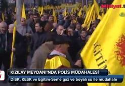 Kızılay Meydanında polis müdahalesi