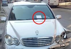 Son dakika haberi: Çarptığı otomobilin sürücüsüne not bıraktı