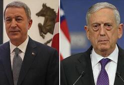 Son Dakika... Bakan Akar, ABD Savunma Bakanı Mattis ile telefonda görüştü