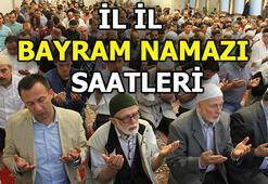 Bayram namazı saat kaçta (2018) İstanbul, Ankara, İzmir