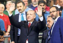 Vatandaş istedi, Erdoğan maçı izledi
