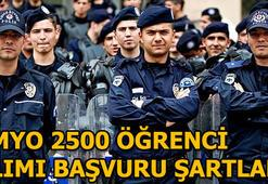Polis Akademisi 2500 personel alacak PMYO başvuru şartları nelerdir