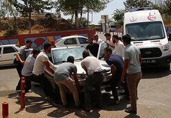 Hastane önünde ilginç olay Vatandaşlar önce aracın sahibini bulamayınca...