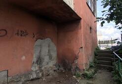 Sokaktaki görüntü ürkütücü; 6 bina mühürlendi