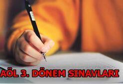 AÖL sınav soruları ve cevapları ne zaman yayınlanacak Sonuçlar ne zaman açıklanır