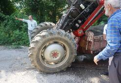 Son dakika haberleri: Traktör şaha kalktı sürücü bu halde bulundu