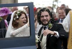 Game of Thrones oyuncuları Harington ve Leslie evlendi