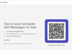 Google, Android Messages web sürümünü yayınladı