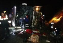 Son dakika: Karamanda yolcu otobüsü devrildi Çok sayıda ölü ve yaralı var