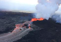 Hawaiide yanardağı izlemek isteyenler gözaltında
