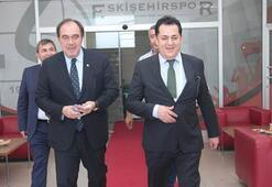 TFF Başkanı Yıldırım Demirörenden Eskişehirspora ziyaret