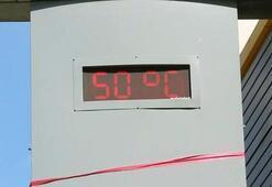 Termometreyi görenler şoka girdi 50 derece...