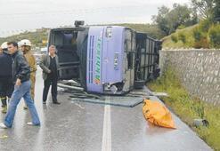 Yağmurda kaza ölümü getirdi
