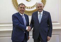 Tataristan Cumhurbaşkanı Rüstem Minnihanov Ankarada