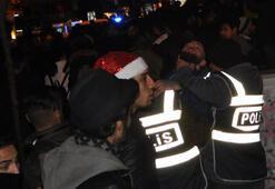 Eskişehirde yeni yıl kutlamalarında gerginlik