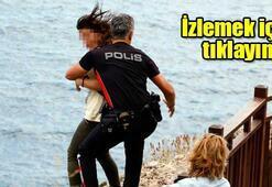 Polis onu ölümden böyle kurtardı
