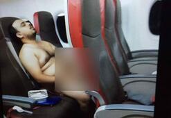 Uçakta çırılçıplak porno izleyince…