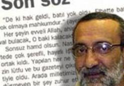 Milli Gazetede Kurtulmuş istifası