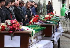Ölen 5 gencin cenazesinde gözyaşları sel oldu