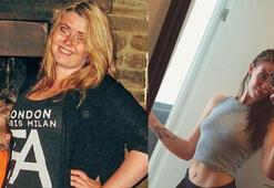 Genç kadın obezdi, manken oldu