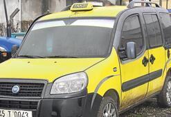Taksi yanmış halde bulundu