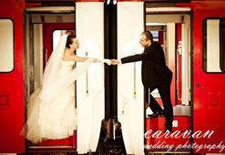 Kış düğünlerine yaratıcı fotoğraflar