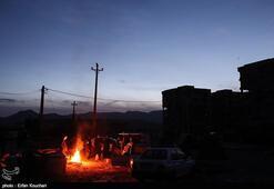 İranda pek çok kişi sokakta uyumak zorunda kaldı