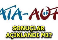 ATA AÖF soruları ve cevapları yayınlandı ATA AÖF sonuçları açıklandı mı