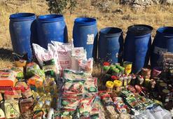 Mardinde PKKya ait 2 gıda deposu bulundu