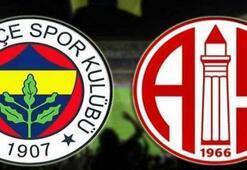 Fenerbahçe-Antalyaspor İlk 11ler...