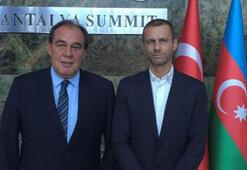 UEFA başkan adayından TFFye ziyaret