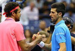 ABD Açık Tenis Turnuvası tek erkeklerde Djokovic yarı finale yükseldi