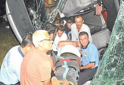 Yolcu otobüsü uçtu: 48 yaralı