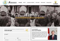 AK Partiden 28 Şubat internet sitesi