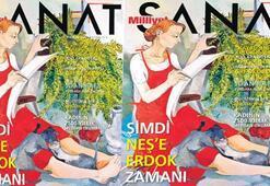Milliyet Sanat kapağında Neş'e Erdok
